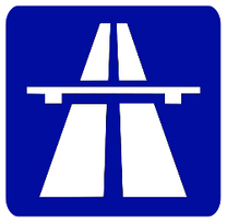 Image of a motorway sign.